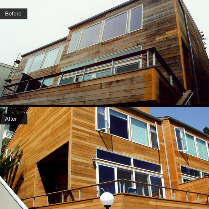 Before and After - Clear heart redwood - cedar redwood gold blend