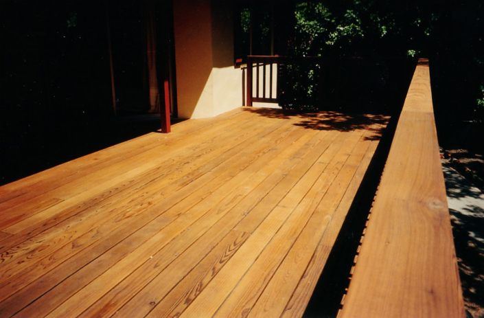 Deck Stained with TWP Radcon Series