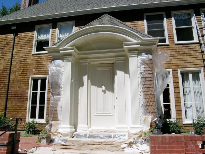 Painting Door Trim Columns