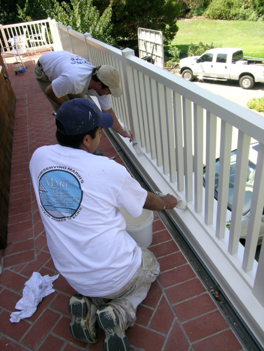 Painting Railing by hand